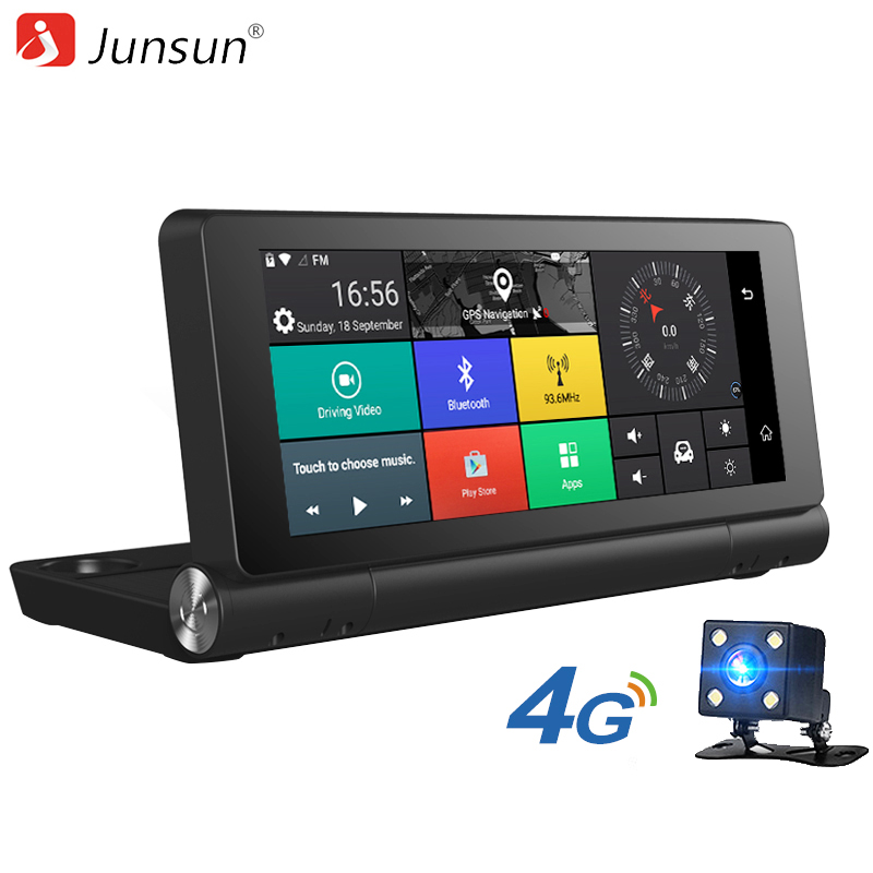 Junsun E28 font b Car b font DVR Camera 4G Supported Plus Android 5 0 font