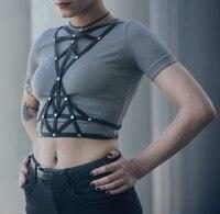 Hình tam giác Thời Trang Khai Thác, Phụ Nữ khai thác, Clubwear, mặc Khiêu Vũ, thời trang Khác, Geometric khai thác, Goth Vành Đai, Gothic, Harness Body B