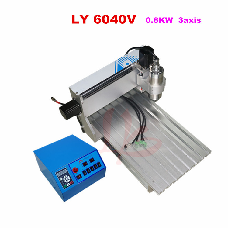 0.8kw VFD water cooling spindle cnc machine 6040V 3axis milling machine,send to Russia no tax панель декоративная awenta pet100 д вентилятора kw сатин