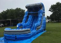 PVC inflatable water slide with pool inflatable slide include blower