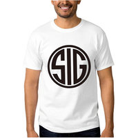 Sig Sauer Print Free Shipping 2016 New Fashion Summer Mens T Shirt Fitness O Neck Cotton