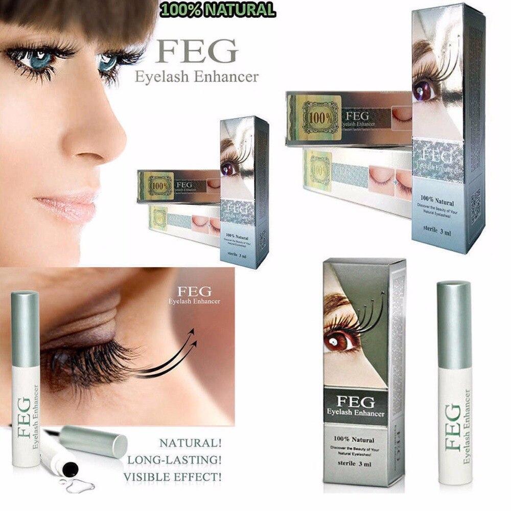FEG 3ml Eyebrows Eyelash Enhancer Liquid Set Treatment Long Thicker Powerful Makeup Eye Lash Growth Serum Cosmetics