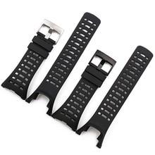 Купить с кэшбэком Rubber strap men's pin buckle watch accessories for Suunto ambit1 2R 2S 3PEAK outdoor sports waterproof strap men watch band