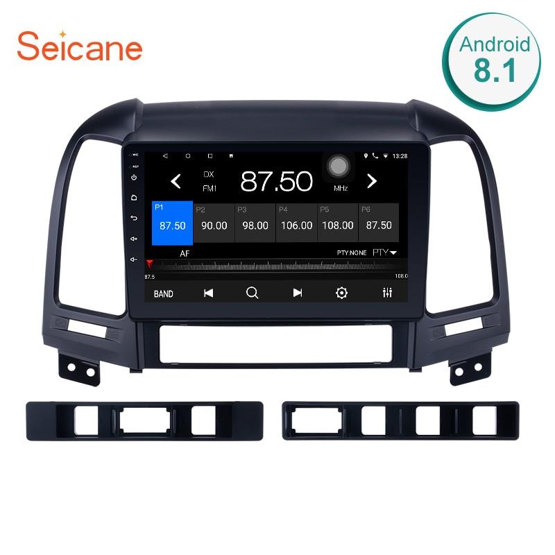 Seicane 2 Din Android 8.1/7.1 autoradio Audio stéréo lecteur multimédia Navigation GPS pour 2005 2006 2007-2012 HYUNDAI SANTA FE