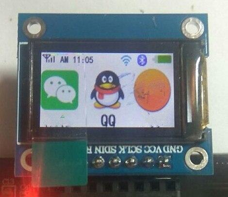 Tela vertical do ic 80*0.9 da movimentação st7735 da tela tft da cor completa de 262 polegadas 7p spi 160 k