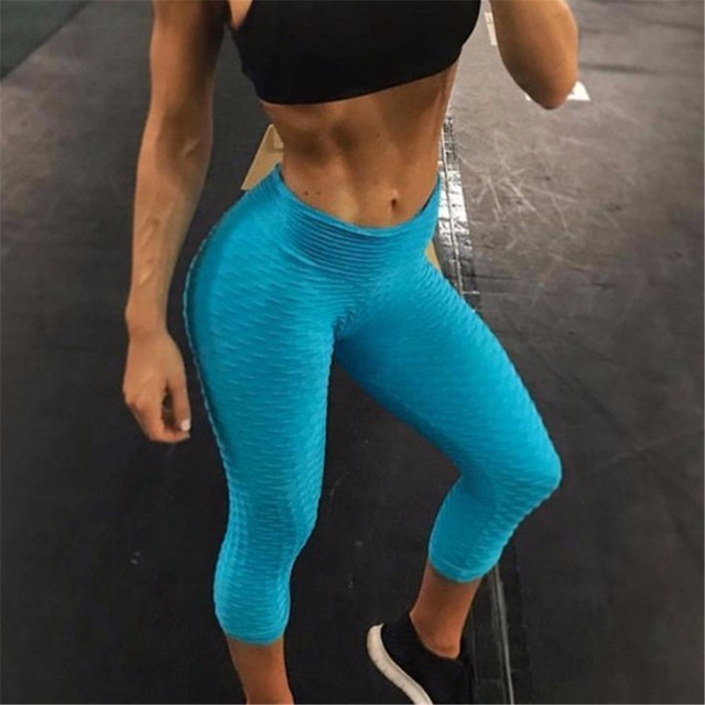 ca01d6dd400 2018 Hot Skinny Yoga Pants Capri Women Mallas Mujer Deportivas Running  Tights Calf Length Pants Fitness GYM Workout Leggings