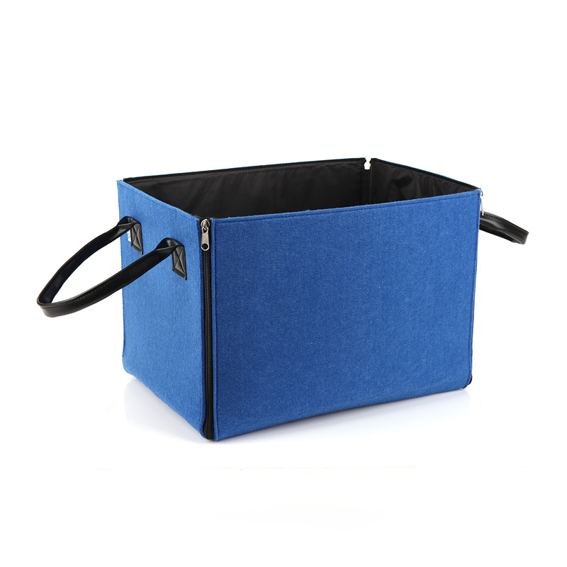 fashion felt storage boxes clothing organizer blue gray large capacity simple folding storage bins home