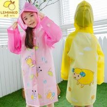 Boy Girl Kids Waterproof Long Sleeve Cloak Flowers Hooded Rainwear Children's Raincoat Cartoon Snail Sheep For Kid 3-12 Age