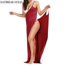 Большие размеры 5XL, свободные, сексуальные, вечерние, пляжные, повседневные, бохо, длинное, макси, с запахом, платье-комбинация,, летнее, облегающее, на тонких бретелях, женское платье