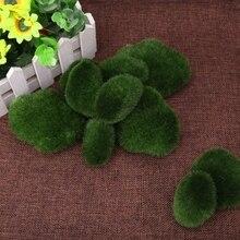 10 шт. Зеленые искусственные камни покрытые мхом трава растение Poted домашний сад Декор Пейзаж