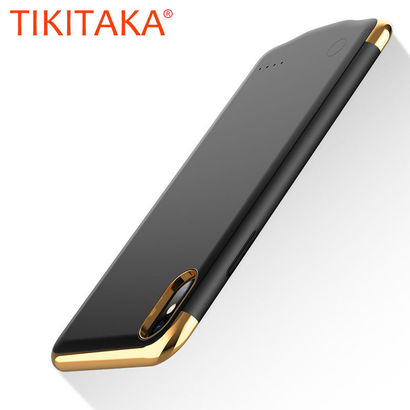 3in1 Ultra Thin <font><b>Battery</b></font> Charger <font><b>Case</b></font> for <font><b>iphone</b></font> X Xs 6 6S <font><b>7</b></font> 8 Plus Power <font><b>Bank</b></font> <font><b>Battery</b></font> <font><b>Case</b></font> Coque Plating Metal Texture Cover image
