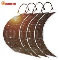 Dokio 100 Вт гибкие монокристаллические панели солнечные комплект для дома и на колесах Лодка 500 1000 гибкие солнечная панель Китай Прямая достав