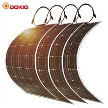 Dokio 100 w гибкий монокристаллический комплект солнечной панели для дома и RV & лодки 500 w 1000 w Гибкая солнечная панель Китай Прямая доставка
