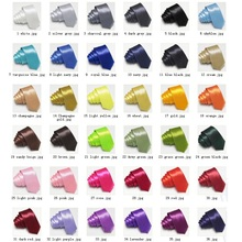 цены Slim Ties Skinny Tie Men's necktie Solid color Polyester 36colors