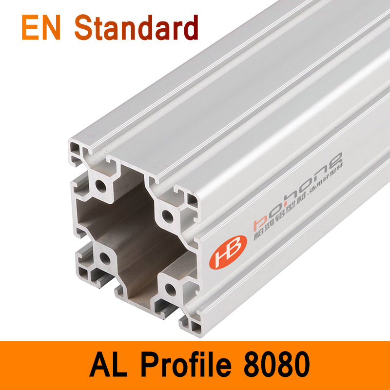 8080 Aluminium Profile EN Standard DIY Brackets Aluminium AL Extrusion CNC 3D DIY Printer Frame Square Aluminum Frame T Slot ...