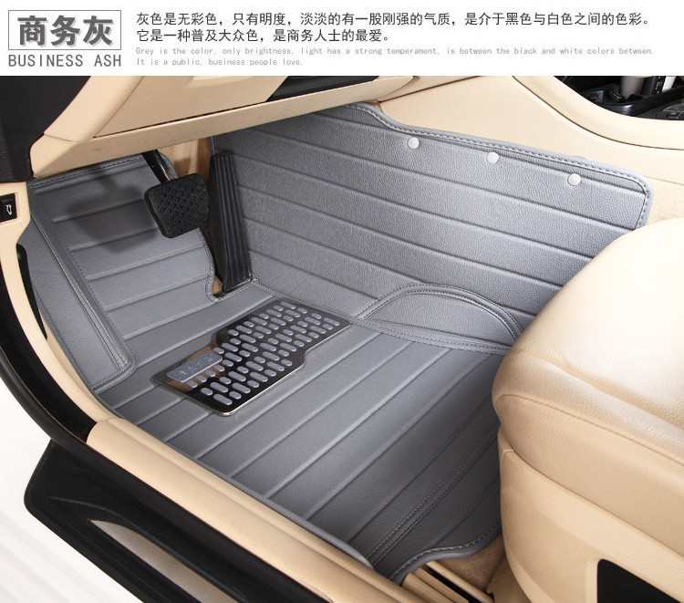 5seats waterproof XPE material non slip full surrounded car floor mats for Cool Granville Dodge