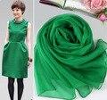 Дамы шарфы 2015 Женщин Высокой Моды Известный дизайнер шелковый дамы шаль Бирюзовый Зеленый Чистый Шелк Вискоза Кружева Хиджаб