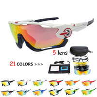 5 Lens Men Cycling Sunglasses Goggles 2018 JBR Polarized Cycling Glasses Racing UV400 TR90 Bicycle Outdoor