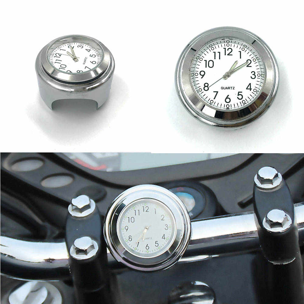 Universal Motorcycle Handlebar Watch Bike Hand Grip Bar Mount Dial Clock Watch Waterproof For Scooter Bicycle Motor ATV MB-AR001