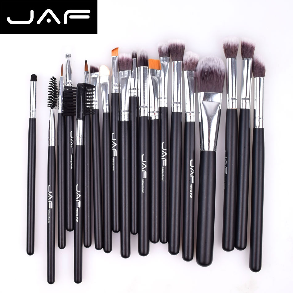 JAF 20PCS Professional Makeup Brushes Set Foundation Soft Nylon Hair Make Up Brush Tool Kit for beginner pincel maquiagem 147 pcs portable professional watch repair tool kit set solid hammer spring bar remover watchmaker tools watch adjustment