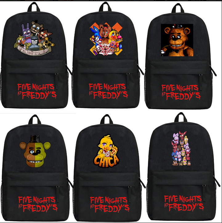 Five Nights At Freddy's Kids Backpacks Freddy Chica Foxy FNAF Shoulders Bag Mochila Children Travel Bag School Bag Teenage Gift