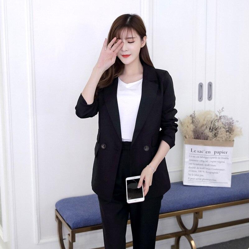 S11 2019 moda Coreano senhoras casuais terno terno calças temperamento two-piece suit sgz033w
