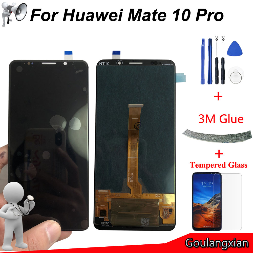 6.0 ''AAA Qualité LCD Pour Huawei Compagnon 10 Pro LCD Affichage à L'écran Tactile Digitizer Assemblée Pour compagnon 10 pro BLA-L09 BLA-L29 LCD
