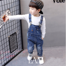 Baby Boys Pants 2017 New Autumn Cave Cowboy Trousers Boys Jeans Children Girls Clothing Cotton Casual Kids Pants Clothes 2p057