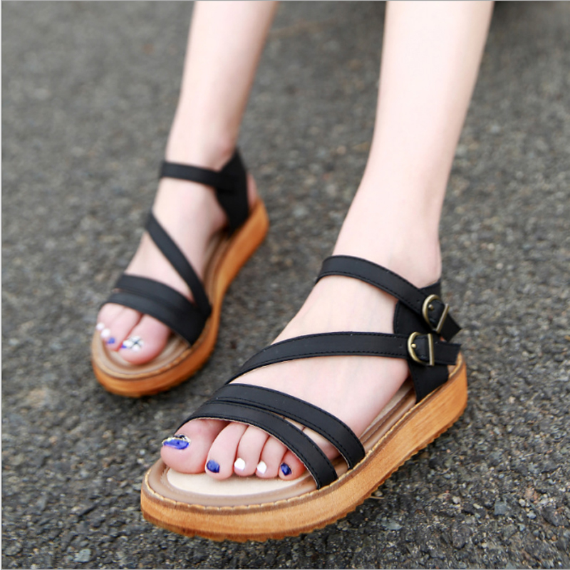 Plage Sandales Mode Gladiateur À Femmes Tangest Taille Ouvert Xwz2161 Bout 34 Nouvelles Chaussures Sangle Grande ~ white D'été Boucle 43 Black Doux brown XzI7zAqp
