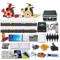 Complete Tattoo Kit 2 Machine Gun  Power Supply 40 Color Ink with case  10-24GD