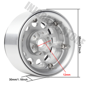 "Image 4 - 4PCS Metal Alloy 1/10 RC Rock Crawler 1.9"" Wheel BEADLOCK Rim for Traxxas TRX 4 Axial SCX10 AXI03007 Tamiya CC01 D90"
