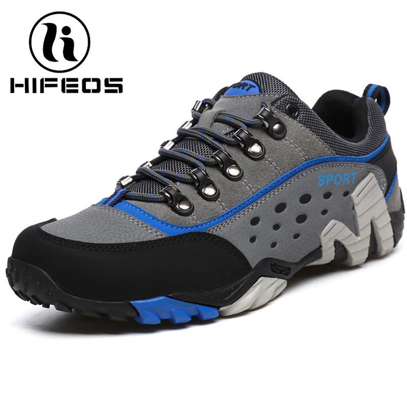 HIFEOS winter outdoor hiking shoes comfortable trekking boots anti-slip men's sneakers breathable low-top lovers climing M078 hifeos outdoor hiking shoes anti slip boots lace invisible increased men s shoes comfortable breathable sneakers climing m065