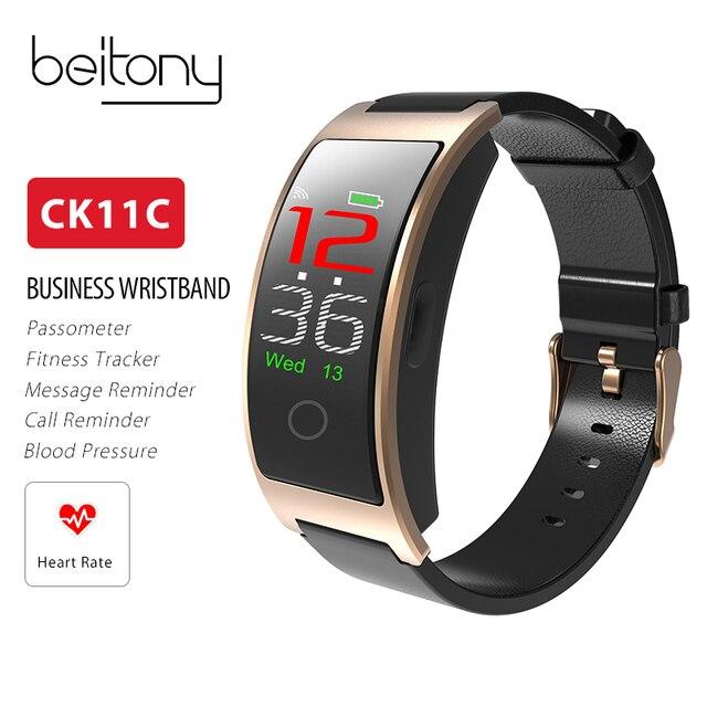 Beitony Fitness Tracker Bracelet Ck11c Smart Band Blood Pressure Oxygen Heart Rate Monitor Watch Men Wristbands