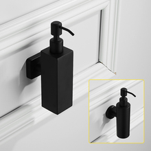купить Black hand soap dispenser wall mounted sus 304 stainless steel bathroom 300ml liquid soap dispenser eco bathroom accessories set по цене 2178.53 рублей