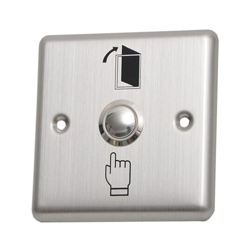 Stainless Steel Exit Button Push Switch Door Sensor Opener Release For Magnetic Lock Access Control Home Security Protection