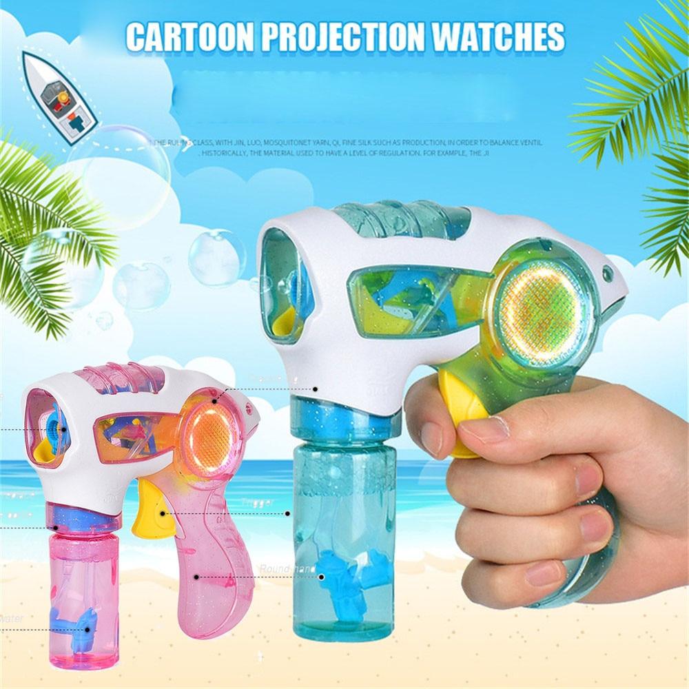 New Flashing Light Up Children Bubble Summer music Water Gun Swimming Machine Outdoor Toys Christmas Birthday Gift n# dropship