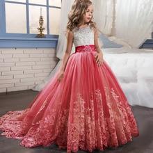 Elegant Kids Girls Princess Dress Flower Girls Wedding Dresses For Girls Birthday Children Evening Party Dress Vestido 4 14 Year