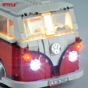 Image 3 - طقم إضاءة ليد ذاتي الصنع من MTELE لسلسلة الخالق ، طقم مصباح شاحنة T1 متوافق مع 10220 21001