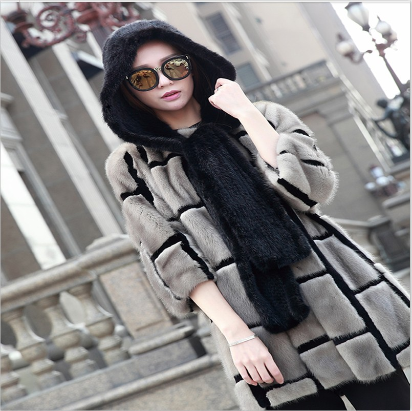 Special Offer New Lady Mink Braided Hat Mink Braided Ear Scarf Hat Pure Mink Braided Hat