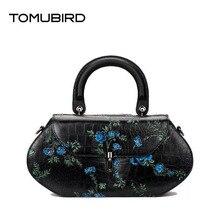 Tomubird National wind leather painted ladies handbag First layer of leather retro messenger bag Pandora