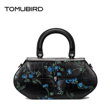 Tomubird   National wind leather painted ladies handbag First layer of leather retro messenger bag  Pandora bag