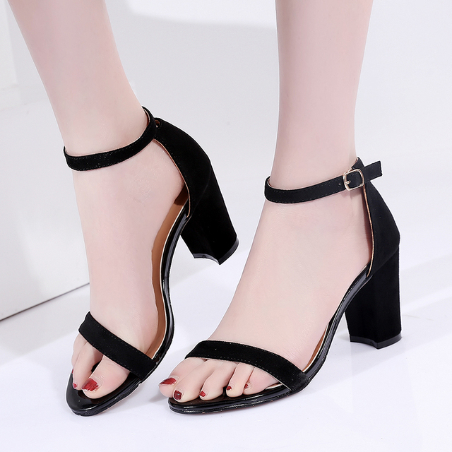 de22e1f041ea De La Chance Brand Shoes Woman Summer Black Gladiator Women Sandals Sexy  Peep Toe Ankle Strap