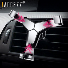 !ACCEZZ Car Phone Holder Air Vent For iPhone 7 MAX XS Samsung Xiaomi Redmi Note Metal Gravity Universal Smartphone GPS Bracket