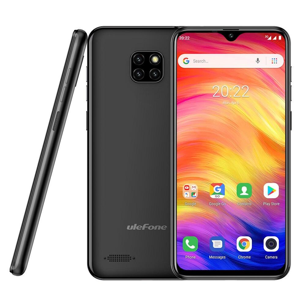 Ulefone Note 7 Smartphone 3500 mAh 19:9 Quad Core 6.1 pouces écran de goutte d'eau 16 GB ROM téléphone portable WCDMA téléphone portable Android8.1 - 4