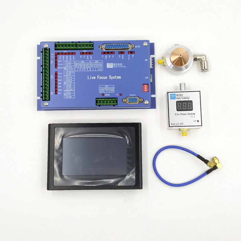 Ruida LFS-AM-T43 Analógico Metal Ao Vivo Sistema de Foco Para corte de Metal, não-metal de corte, uniaxial campo de controle automático