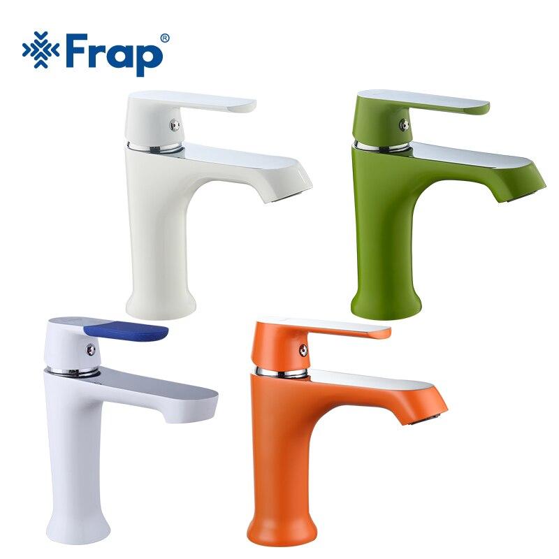 Frap бассейна кран Зеленый Белый Оранжевый Seckill продажи следовать FRAP Официальный магазин ванная комната F1031/32/33/34