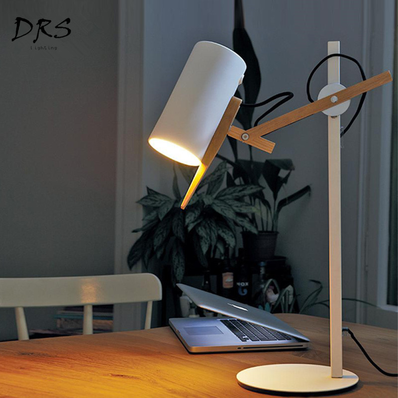 Nordic Designer Simple Table Lamp Versatile Swing Luminaria Bedside Lamp  Bedroom Decoracao Para Casa Desk Lights LampshadeNordic Designer Simple Table Lamp Versatile Swing Luminaria Bedside Lamp  Bedroom Decoracao Para Casa Desk Lights Lampshade