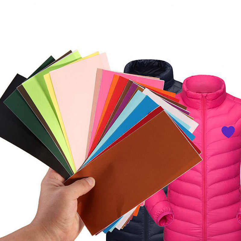 2 unidades/pacote Auto-adesivo remendo Adesivo Nylon Multicolor casaco roupas Patches Remendo de Pano DIY Tecido artesanato costura traje