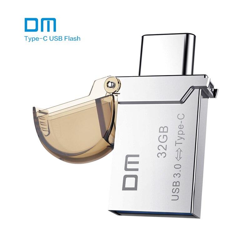 Бесплатная доставка DM pd019 16 ГБ 32 ГБ 64 ГБ Тип-C OTG USB 3.0 Flash <font><b>Drive</b></font> smart памяти телефона мини usb stick