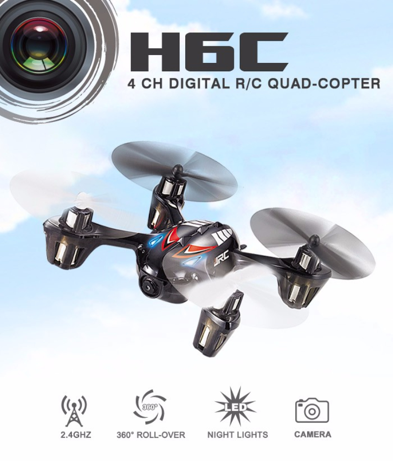 mini rc drone 2.4G 4CH 6-axis Gyro with 2MP HD Camera LCD Transmitter 360 Flips RC Quadcopters RTF rc Toys model for child gift